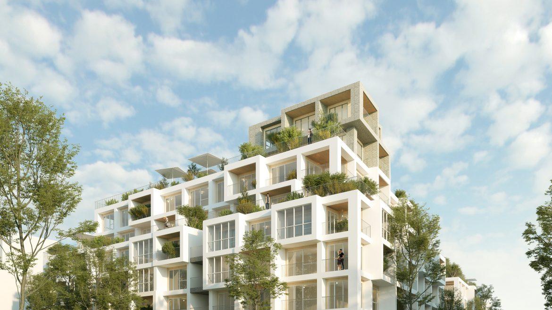 Perspective WOODEUM J2. Architectes : Wilmotte & Associés